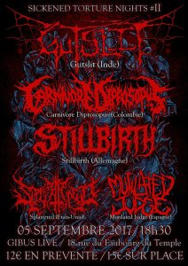 Gutslit + Carnivore Dispropus + Stillbirth + Splattered + Mutilated Judge