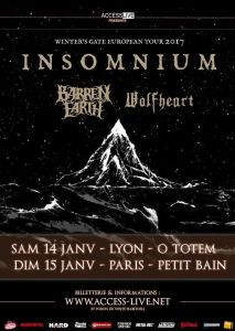 Insomnium + Barren Earth + Wolfheart