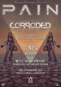 Pain + Corroded + Sawthis - Belgique