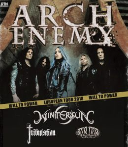Arch Enemy + Wintersun + Tribulation + Jinjer