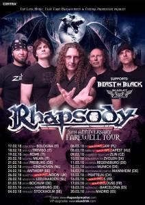 Rhapsody + Beast In Black + Scarlet Aura