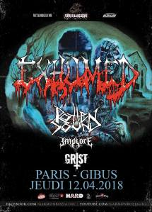 Exhumed + Rotten Sound + Implore + Grist
