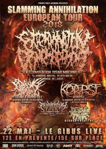 2018-05-22 - Extermination Dismembermen + Korpse + Begging For Incest + Devour The Fetus + Embryectomy