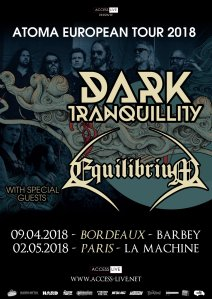 Dark Tranquillity + Equilibrium + Black Therapy + Miracle Flair