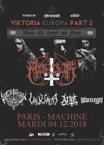 Marduk + Archgoat + Valkyrja + Attic + Stortregn