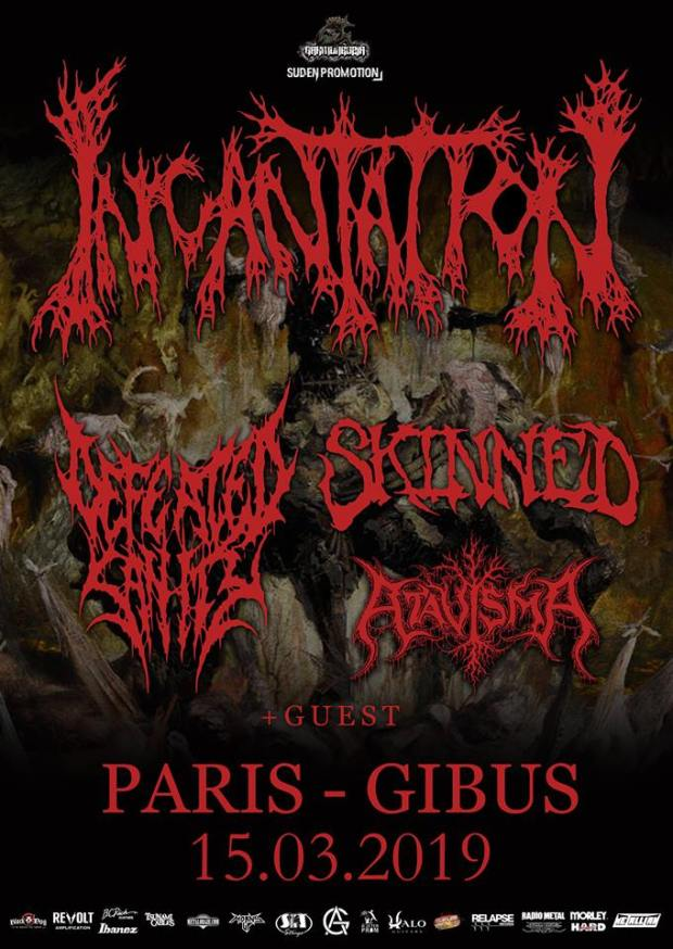 Incantation + Defeated Sanity + Skinned + Atavisma